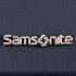 Logo Samsonite em metal.
