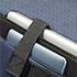 Sistema Smart FitTM, permite a adaptação do compartimento a diferentes tamanhos de portátil.