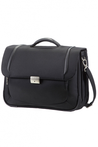 Briefcase 3 Gussets 16'' Black